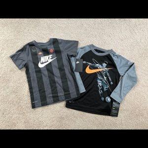 Boys size 6 Drifit Nike soccer shirts NWT